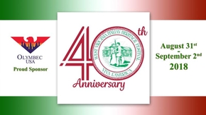 Proud Sponsor | 38th Annual West Virginia Italian Heritage Festival